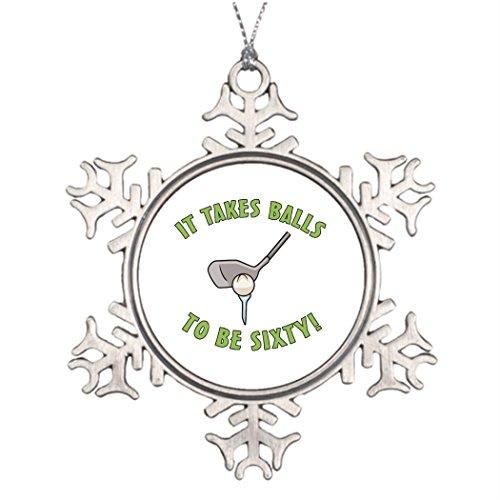 VinMea Baumschmuck zum 60. Geburtstag Haltung Gag Geschenke Weihnachtsbäume Dekorationsideen Golfliebhaber