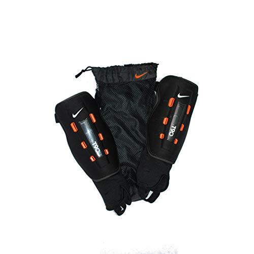 Nike Herren Schienbeinschoner T90 Wrapt Shield, Black/orange/White, M, SP0203-008