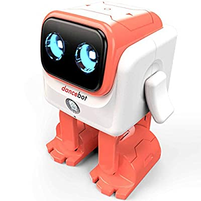 ECHEERS Dance Robot Toys for Kids, Boys and Girls, Educational Music Dancing Robot Kids Toys, Rechargeable Music Robot Speaker Follow Beats Rhythm, 3 Years+ Coral
