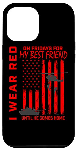 iPhone 12 Pro Max Red Friday Best Friend Military Remember Deployed USA Flag Case