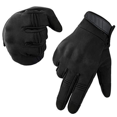 Neusky Herren Taktische Handschuhe Touchscreen Fahrrad Handschuhe Motorradhandschuhe MTB Handschuhe Mountainbike Handschuhe Outdoor Sport Handschuhe Ideal für Airsoft, Paintball (S, Leicht-Schwarz)