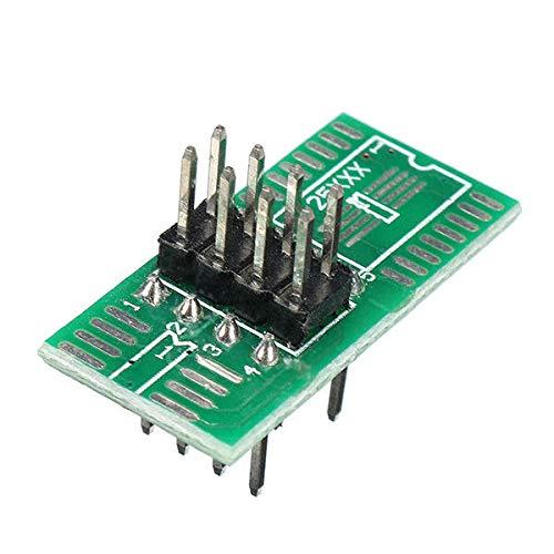 NKJH Módulo electrónico 8 Pin 1.27mm IC Test de Tono SOIC8 SOP8 combustión rápida de la viruta Clip Toma del Adaptador de BIOS / 24/25/93 Programador con 6pcs 3pcs Power Module