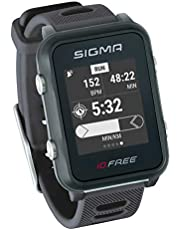 iD.FREE GPS multisporthorloge voor outdoor en navigatie, Smart Notifications, geocaching, hartslagmeting aan de pols, waterdicht, incl. fietshouder