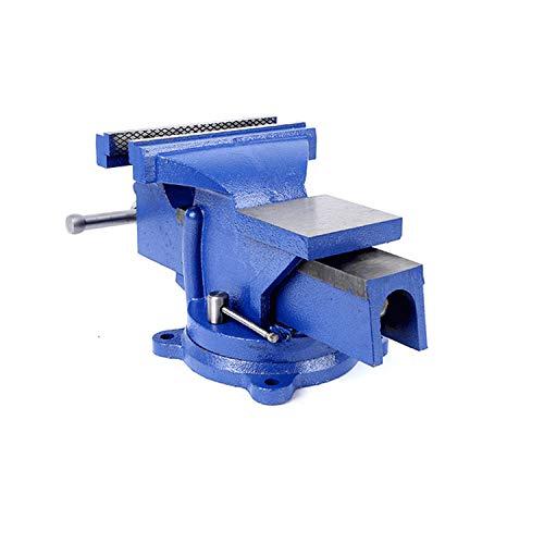 uyoyous Parallel Schraubstock mit Amboss 360° Drehbar für Werkbank Ingenieur Neu (5 inch, 125mm, Tischschraubstock)
