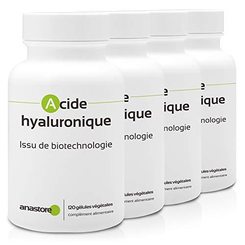 ÁCIDO HIALURÓNICO * OFERTA 3+1 GRATIS * PRODUCTO DE BIOTECNOLOGÍA * 100 mg / 120 cápsulas * Hidratación de la piel, aparición de arrugas, molestias articulares, reumatismos, sequedad ocular *