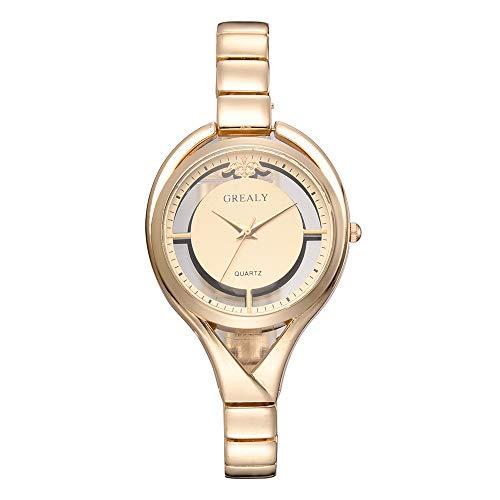 Reloj De Aleación Simple De La Aleación De La Moda De Las Señoras De Moda, Reloj De Cuarzo Hembra, Oro