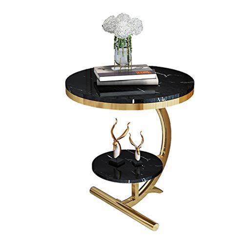 Tavolini da caffè Balcón Mesa de estar Sala de estar Simple Pequeña Mesa de centro, mesa de café Mesa de mesa a lado industrial Mesa de montaje Mesa de mesa para sala de estar con patas de metal tavol