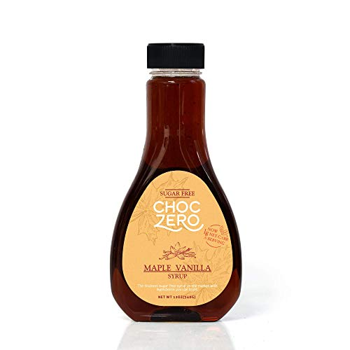 ChocZero Syrup, Maple Vanilla. Sugar free, Low Carb. 1 Bottle(12oz)