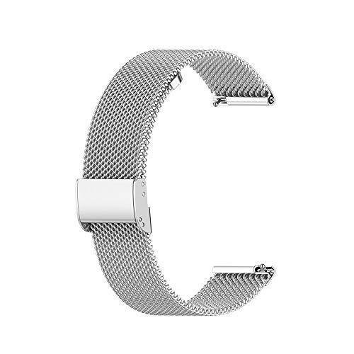 PZZZHF Correa de Metal para la Banda Solar LS05 Banda Smart Watch Correas de Pulsera para Xiaomi Solar LS05 LS02 Cinta de Malla de Correa (Color : Button Silver, Size : Haylou Solar LS05)