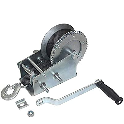 OPENROAD 2500lbs Hand Winch,Trailer Boat Winch,Heavy Duty Mountable Hand Crank Winch,Manual Winch (2500lbs Winch with Strap)