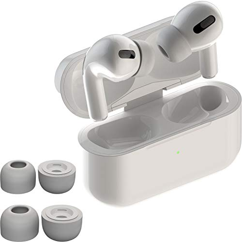 CharJenPro AirFoams Pro: Premium Memory Foam Ear Tips for Airpods Pro. Stays in Your Ears. No Silicone Ear tip Pain. Includes 2 Sizes. The Original from Kickstarter. (Grey)