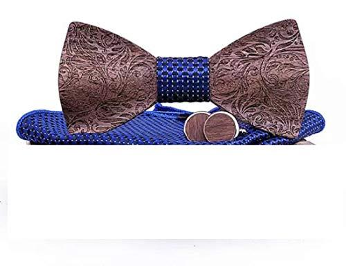 BeForBio Fliege aus Holz, handgefertigt, schick und modisch, modisches Accessoire oder Geschenkidee, verstellbar