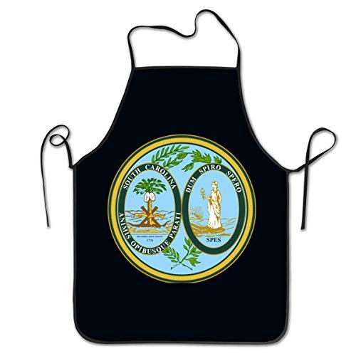 Unisex Delantales De Cocina Sello De Carolina del Sur Delantales De Jardinería Chefs Delantal De Cocina Delantales De BBQ Delantales De Barbacoa Delantales De Restaurante
