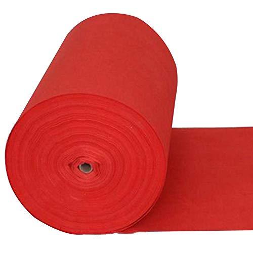 WKHQQ passatoia al Metro Tappeto, Tappeto Rosso da Sposa USA e Getta, Tappeto per Eventi di Nozze, Tappeto Rosso Carpet (Size : 1 * 10 m)
