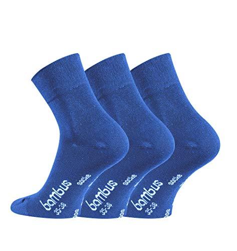 FussFre&e kurze Bambussocken mit zusätzlicher Garantie, 6 Paar, extraweiche Socken mit kurzem Schaft, Quarter Socken (Jeans/Blau, 47-50)