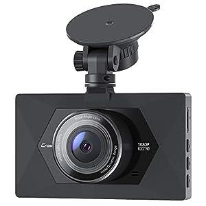 Crosstour Cámara De Coche 1080P Full HD,Dash CAM 12MP 3″ Pantalla con 170° Gran Ángulo, WDR, G-Sensor, Grabación en Bucle y Detección de Movimiento CR300