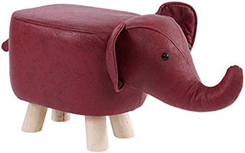 Repose-Pieds Animal Rembourré Ottoma Innovative Cute Foot Rest Tabouret avec 4 Pieds en Bois Massif Et Éponge Intégrée À Haut Rebond, Tabouret Polyvalent pour Chaise Pouf Tabouret pour Enfants, Haute