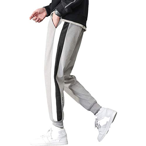 Katenyl Pantalones de chándal cónicos de Cintura Media para Hombre, Pantalones con Bolsillos Informales de Gran tamaño con Estampado a Juego de Colores y pies de Haz a la Moda 4XL