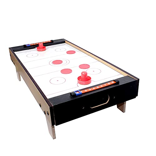 Air Hockey Mini Wooden Table for Kids 100 % Original Wooden Indoor Game Table top Crazy Popular air Hockey Size 68cm * 35cm * 15cm for All Ages
