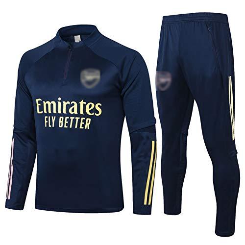 PUS 20-21 Arsenal City Football Training Anzug, langärmelige Sportbekleidung Trainingsanzug Set, Outdoor Sports Herren Langgezeichnete Sportbekleidung (S-XXL) Royal Blue-L