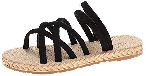 LLGG Sandalias De Ducha Antideslizantes,Zapatos de Playa Plana, Zapatillas Antideslizantes.-Negro_37,Zapatillas de Ducha Transpirables