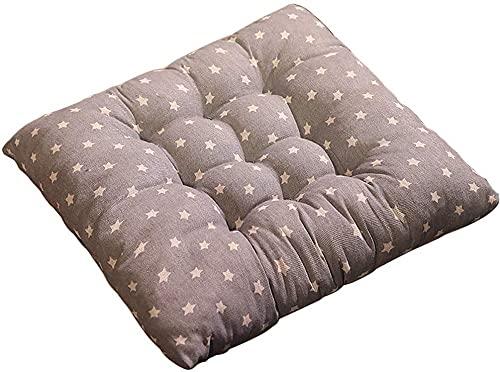 Cojín cuadrado y almohadillas con lazos, 40 x 40 x 5 cm, cojín para silla de jardín, juego de 1 hermosa a rayas reversible cocina comedor para muebles de interior y exterior - Pentagrama