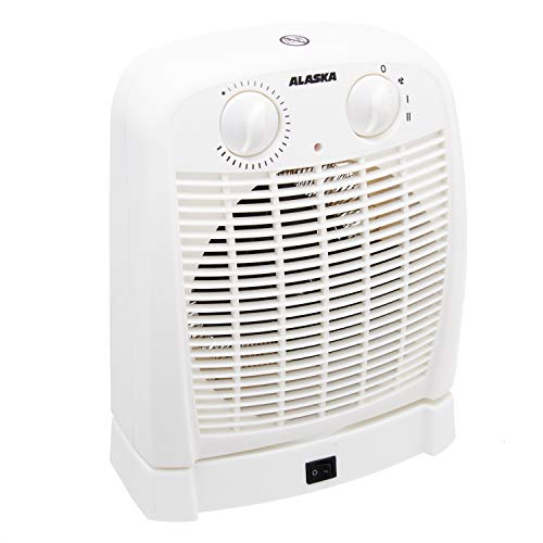 Alaska Heizlüfter FH2015 | weiss | Heizgerät | 2.000 W | für kalte, warme oder heiße Luft | stufenloses Thermostat | Überhitzungsschutz | 60 Grad Oszillation | Betriebsleuchte