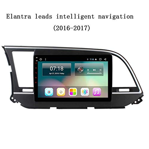 DAETNG 10,1-Zoll-Auto-Stereo-GPS-Navigationssystem, Multimedia-Unterhaltungsradio-In-Dash-Video, digitaler HD-Multitouch-Bildschirm, Android 8.1 für Elantra (2016-2017),WiFi:1+16g