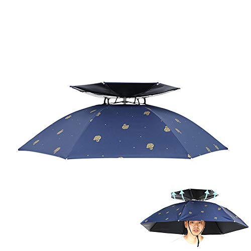 AKT Angelkappe Outdoor Sport Regenschirm Hut Wandern Camping Cap Kopf Hüte Fischen Sonnenschutzkappen UV Sonnenschutz Eimer Hüte,Oversized