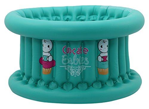Cupcake Babies Baignoire Turquoise + Gonfleur