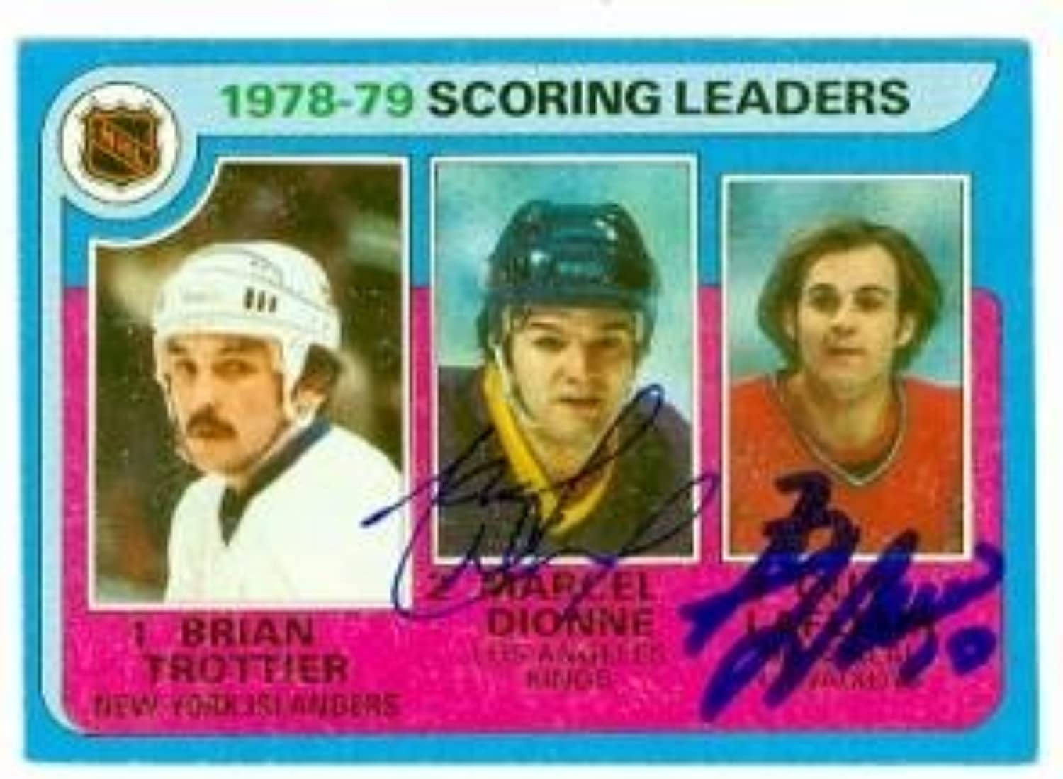 Marcel Dionne & Guy Lafleur autographed Hockey Card (Los Angeles Kings  Montreal Canadiens) 1979 Topps  3