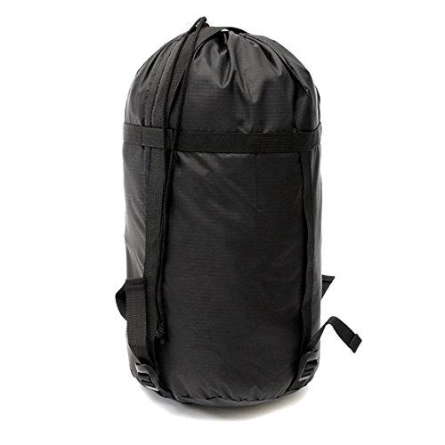 Inovey lichtgewicht compressie zak outdoor reizen camping slaapzak zwart