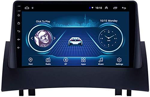 Coche GPS Multimedia Player Es Adecuado para Renault Megane 2 Android con La Máquina Integrada De Navegación Bluetooth Toque Completo,4core 4g WiFi:1+32gb