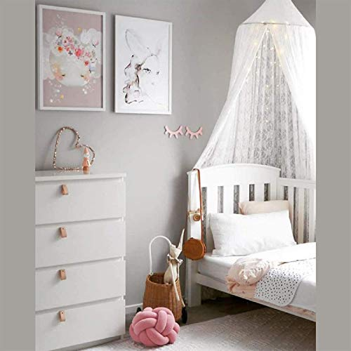 Dyna-Living Baby Kids - Mosquitera para cama (forma redonda), diseño de princesas