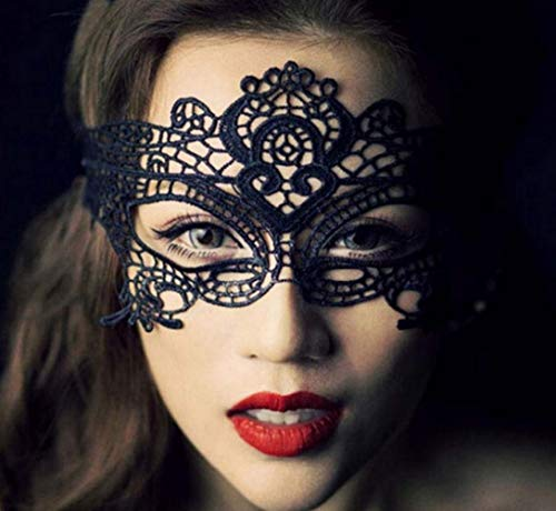 Landish 2020 New Girls Frauen Sexy Ball Lace Maske Catwoman Masquerade Dancing Party Augenmaske Katze Halloween Kostüm, Weiß