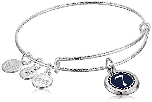 Alex and Ani Color Infusion Numerology Seven EWB, SS, Shiny Silver, One Size (A20EBNUM7SS)