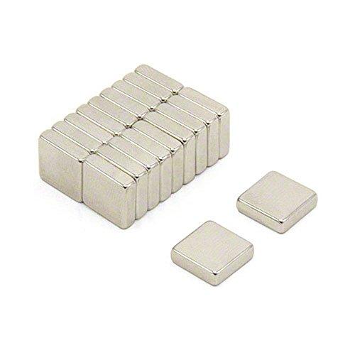 Magnetastico® | Lot de 10 aimants en néodyme N52 carrés 10 x 10 x 4 mm | Aimant permanent pour tableau blanc aimant carré