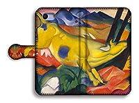 手帳型 スマホケース【世界の名画】 マルク ☆抽象画☆ art 名画 絵画 アート 美術 Google Pixel Xperia Galaxy AQUOS HUAWEI OPPO (Xperia ACE, 黄色い牛)