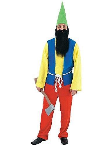 Costume Gnome Joyeux - Taille Unique Mâle Adulte