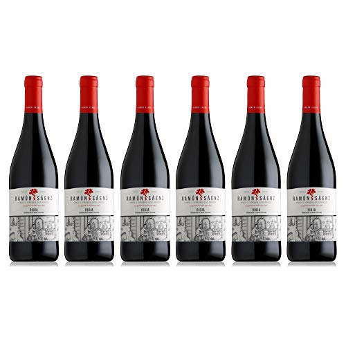 Vino tinto ecológico de Rioja con Denominación de Origen Pack 6 botellas tempranillo/Vinos Ecológicos Ramón Sáenz elaboración artesana