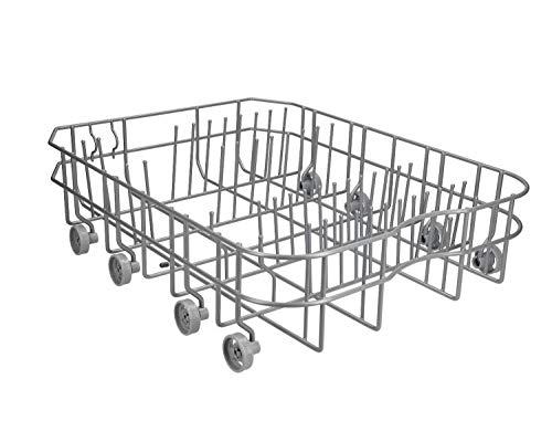 Cestello Inferiore Lavastoviglie Originale Ariston Whirlpool | Il Kit comprende le Ruote | Alcuni dei modelli Adattabili ADL456 - ADG190 - ADP451 | Nuova Versione più Duratura