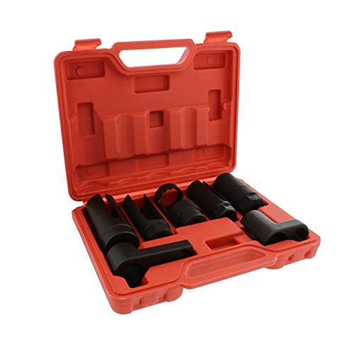 ABN Oxygen 02 Sensor Socket 7-Piece Tool Kit – 22mm (7/8in), 27mm, 29mm – All Vehicle O2 Removal and Installation