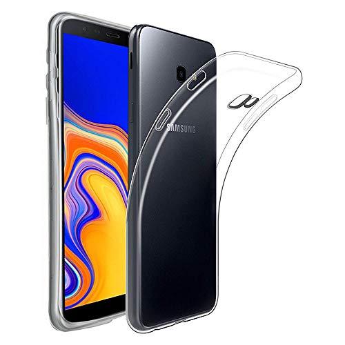 REY Funda Carcasa Gel Transparente para Samsung Galaxy J4 Plus/Galaxy J4 Core, Ultra Fina 0,33mm, Silicona TPU de Alta Resistencia y Flexibilidad