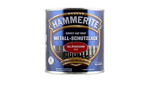 AKZO NOBEL (DIY HAMMERITE) 5087583 Metallschutzlack Hammerite Metall-Schutzlack glänzend 0,250 L, rot, 250ml