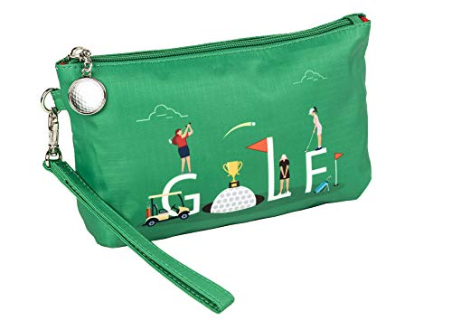 Sydney Love Sport G-O-L-F Wristlet Travel Cosmetic Case, Golf Green Multi