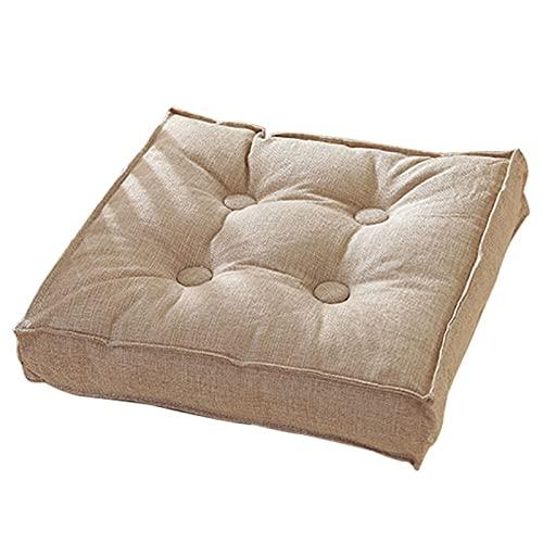 Cojín para silla de comedor, cómodo cojín de algodón y lino, cojín para silla con funda lavable, alivia el dolor de espalda / ciática / silla de oficina / silla de ruedas