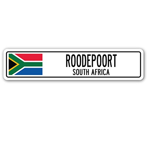 ROODEPOORT, South Africa Street Sign South African Flag City Country Gift
