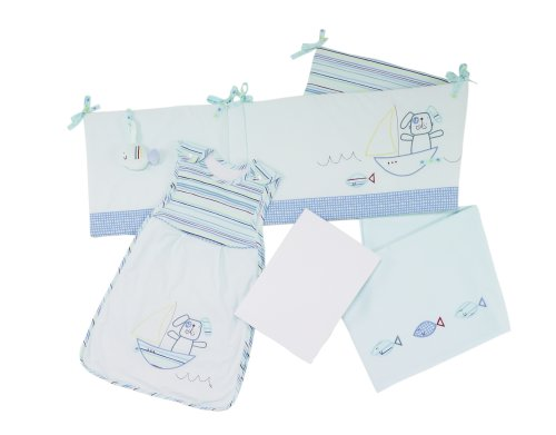 Lollipop Lane Fish and Chips New Born Bedding Bale (Baby Sleeping Bag. Cot bed Fitted Sheet. Flat Sh