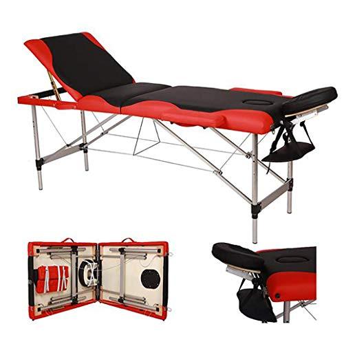 SXZZ Massage Tafel, Draagbare vouwen 3 Sectie Verstelbare Schoonheid Bed met Hoofdsteun en Draagtas, voor Tattoo Bank SPA Bank Bed