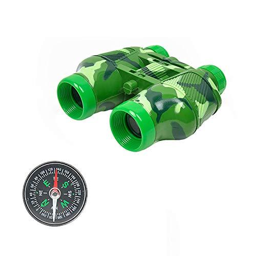 JQq Lunar Teleskop Luxuspaket für Kinder Anfänger Fernrohr für Astronomie Erwachsene mit Kinderspielzeugteleskop Kompassset Plastikfernglas Kompassfeldübungen
